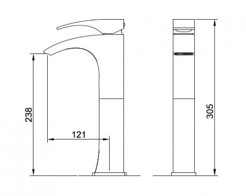 Mitigeur lavabo dessin